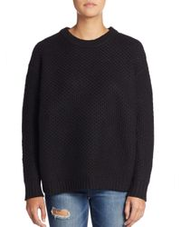 Marc By Marc Jacobs - Black Oversized Diamond-textured Wool Sweater - Lyst