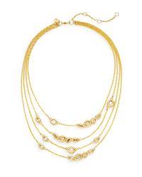 Alexis Bittar   Metallic Elements Moonlight Crystal Multi-strand Station Necklace   Lyst