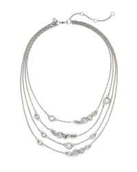 Alexis Bittar - Metallic Elements Swarovski Crystal Multi-strand Station Necklace - Lyst