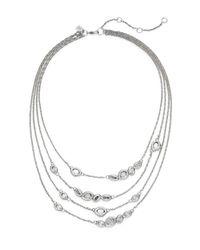 Alexis Bittar | Metallic Elements Swarovski Crystal Multi-strand Station Necklace | Lyst