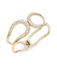 Alexis Bittar | Metallic Miss Havisham Liquid Crystal Hinged Bracelet/goldtone | Lyst