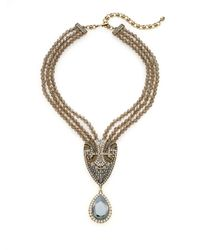 Heidi Daus | Metallic Full Of Life Swarovski Crystal Multi-strand Pendant Necklace/goldtone | Lyst