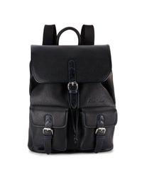 Robert Graham | Black Johnson Faux Leather Backpack for Men | Lyst