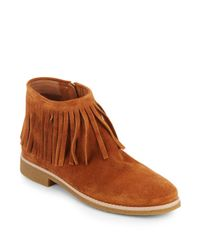 kate spade new york | Brown Betsie Too Fringed Suede Ankle Boots | Lyst