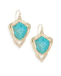 Alexis Bittar - Blue Miss Havisham Mosaic Chrysocolla & Crystal Snake Chain Drop Earrings - Lyst