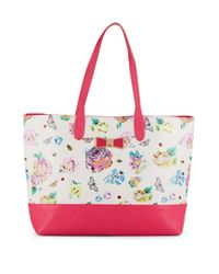 Betsey Johnson   Multicolor Be My Bow Floral-print Tote   Lyst