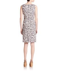 Peserico - Multicolor Floral-print Sheath Dress - Lyst