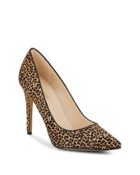 Nine West | Natural Frolic Leopard-print Calf Hair Pumps | Lyst