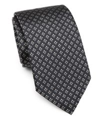 Armani - Blue Cross Print Silk Tie for Men - Lyst