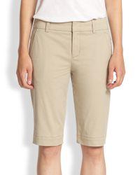 Vince | Natural Vintage Wash Bermuda Shorts | Lyst