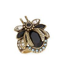 Heidi Daus - Metallic Beetle Mania Swarovski Crystal & Multicolored Rhinestone Ring - Lyst