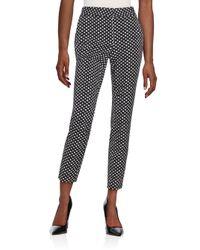 Diane von Furstenberg - Black Genesis Dot-print Pants - Lyst