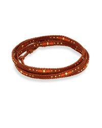Chan Luu | Red Beaded Wrap Bracelet | Lyst