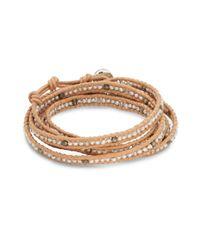 Chan Luu   Metallic 3mm Gray Freshwater Cultured Pearl, Crystal & Sterling Silver Bracelet   Lyst