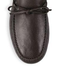 Bally - Black Villeneuve Shearling-lined Leather Mocassins for Men - Lyst