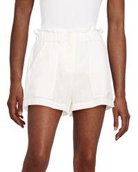 BCBGMAXAZRIA - White Smocked Shorts - Lyst