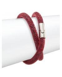 Swarovski | Red Stardust Crystal Wrap Bracelet | Lyst