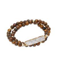 Elise M - Brown Nola Double Wrap Bracelet - Lyst
