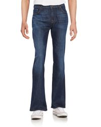 7 For All Mankind | Blue Bootcut Jeans for Men | Lyst