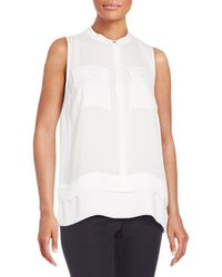 Chaus New York - White Double Layered Blouse - Lyst