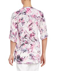 Chaus New York - Pink Floral Breeze Blouse - Lyst