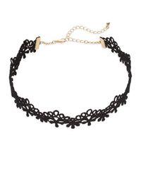 Cara | Black Tassel & Horn Pendant Choker Necklace Set | Lyst