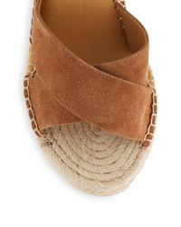 Dolce Vita - Brown Nova Suede Espadrille Wedge Sandals - Lyst