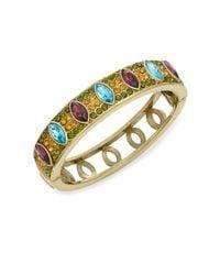 Heidi Daus - Metallic Double Time Swarovski Crystal & Multicolored Rhinestone Bangle Bracelet - Lyst