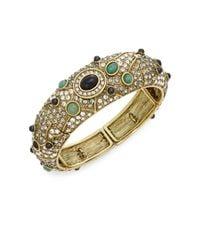 Heidi Daus   Metallic To Top It Off Swarovski Crystal & Multicolored Rhinestone Bangle Bracelet   Lyst