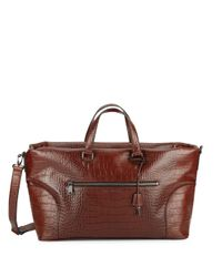 Marc By Marc Jacobs | Brown Tony Croc-embossed Leather Weekender for Men | Lyst