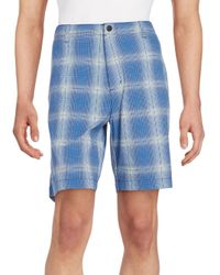 Tommy Bahama | Blue Tech It Away Plaid Shorts for Men | Lyst