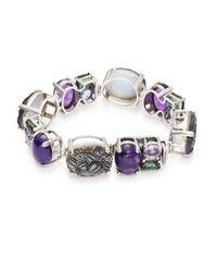 Stephen Dweck - Metallic Horizontal Oval Sterling Silver Bracelet - Lyst