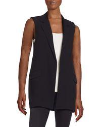Nicholas | Black Crepe Split-back Vest | Lyst
