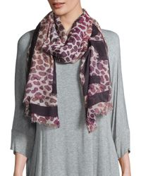 Tory Burch - Multicolor Printed Wool Scarf - Lyst