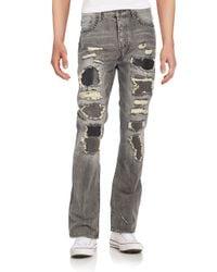 PRPS | Black Roka Distressed & Studded Straight-leg Jeans for Men | Lyst