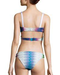Missoni - Blue Operata Bikini Top - Lyst