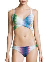 Missoni   Blue Operata Bikini Top   Lyst
