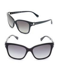 Diane von Furstenberg | Black Emma 57mm Square Sunglasses | Lyst