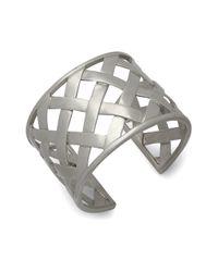 Kenneth Jay Lane - Metallic Woven Sterling Silver Cuff Bracelet - Lyst