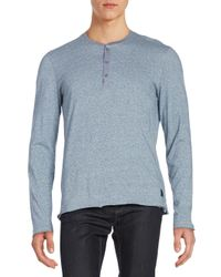 Calvin Klein Jeans   Blue Cotton Henley Top for Men   Lyst