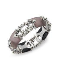 Alexis Bittar | Metallic Diamond Magnetic Closure Bracelet | Lyst