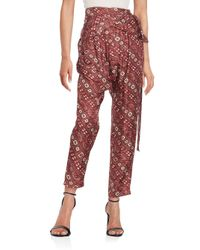 Isabel Marant | Red Printed Harem Silk Pants | Lyst