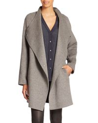 VINCE | Gray Two-tone Wool Jacket | Lyst