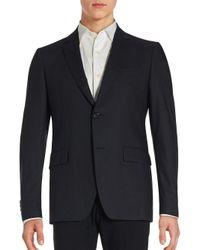 John Varvatos | Black Hampton Checkered Wool Blend Sportcoat for Men | Lyst