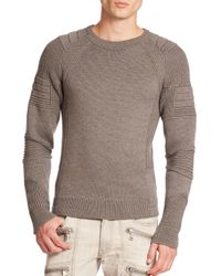 Ralph Lauren Black Label - Gray Ribbed Merino Sweater for Men - Lyst