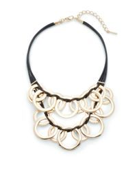 Saks Fifth Avenue | Metallic 2-row Ring Stat Goldtone Necklace | Lyst