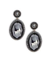 Swarovski | Metallic Vital Oval Crystal Drop Earrings | Lyst