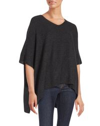 VINCE | Black Cashmere Poncho Sleeve Top | Lyst