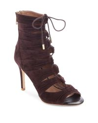 Joie | Purple Anja Lace-up Suede Sandals | Lyst
