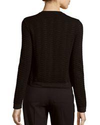 M Missoni - Black Cropped Textured Cardigan - Lyst